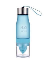 Бутылка соковыжималка H2O 650 ml голубая