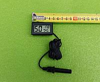Влагомер-гигрометр с термометром-градусником цифровой (на батарейках) для инкубаторов - ЧЕРНЫЙ   Китай, фото 1