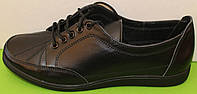 Кроссовки кожаные женские черные от производителя модель В03
