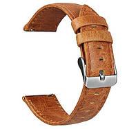 Кожаный ремешок для часов Samsung Galaxy Watch Active (SM-R500) / Active 2 (SM-R820/R830) - Light Brown
