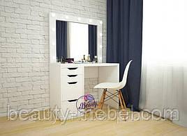 Комплект гримерный столик  + стул на буковых ножках