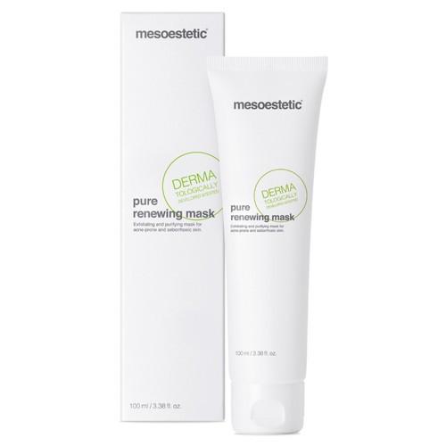 Очищающая отшелушивающая противовоспалительная маска Мезоэстетик Mesoestetic Acnelan Pure renewing mask 50 мл