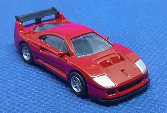 Модель Ferrari micro cars F40 Competizione в масштабе 1:100 (красный)