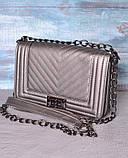 Сумка женская кросс-боди Nellie Chevron bronze, фото 2