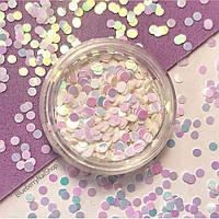 Диско-конфетти для декора ногтей розовые-голубые, 2г