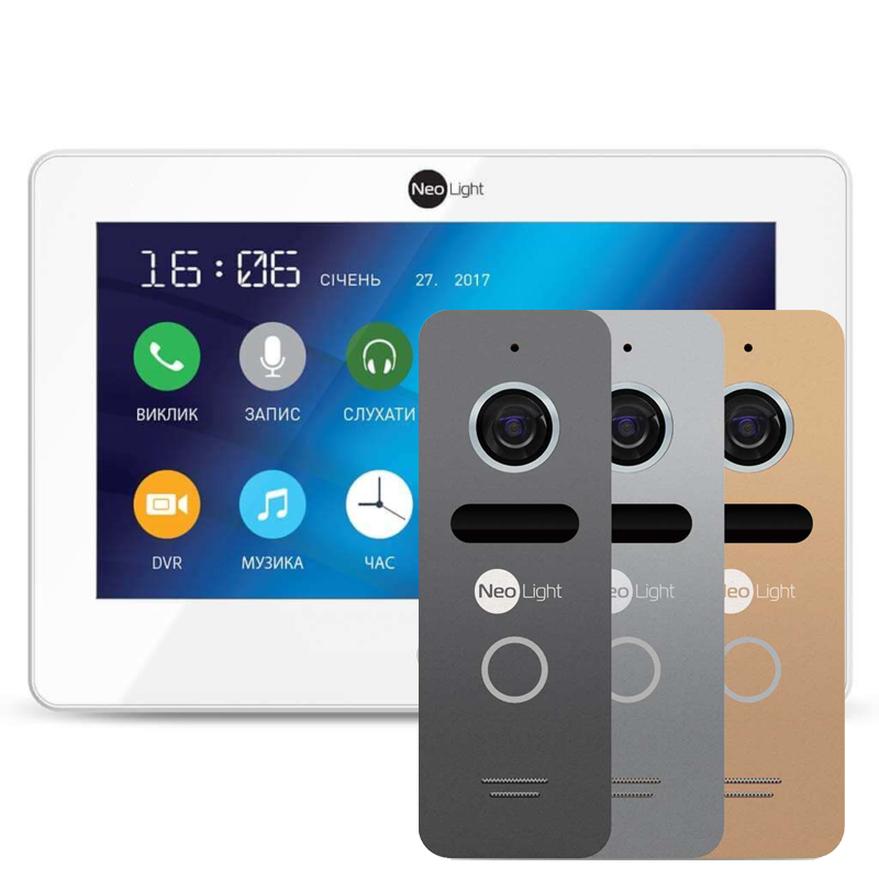 NeoLight ALPHA и NeoLight Solo комплект видеодомофона