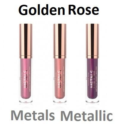 Блеск для губ Golden Rose Metals Metallic Shine