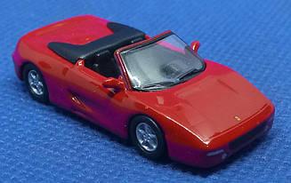 Модель Ferrari micro cars F355 Spider в масштабе 1:100 (красный)