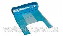 Пакет майка 24*42 180шт в рулоне (синяя ,зеленая ) 0.370кг