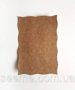 Крафт картон с ажурными краями, 150×100 мм, комплект 10 шт