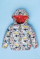 Куртка для мальчика демисезонная Самолеты 98-110см.