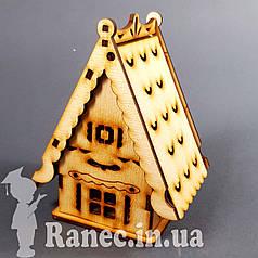 Деревянный домик шкатулка №14