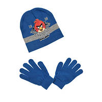 Шапка и перчатки для мальчика синие р.52,54