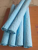 Бумага упаковочная, жатая. Голубая 4,5м.в рулоне