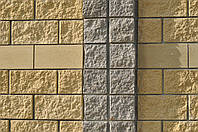 Блок заборный декоративный колотый, рваный, цветной. 390х190х120.
