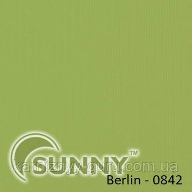 Рулонные шторы для окон в закрытой системе Sunny с плоскими направляющими - ПЛАСТИК,  ткань Berlin - 3