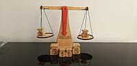 Весы демонстрационные универсальные с набором гирь, магнитными гирями, стаканами для жидкостей