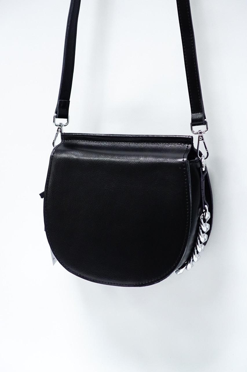 Небольшая стильная сумочка из натуральной кожи 3336-65 black