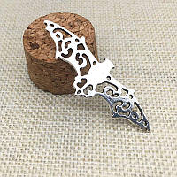 Винтажный серебрянный кулон - подвеска Летучая мышь (уп. 10шт.)