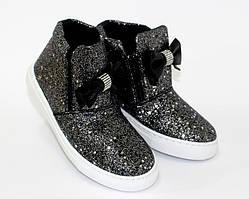 Модные блестящие ботинки для девочек 31- 35 размер