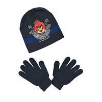 Шапка и перчатки для мальчика темно-синие р.52,54