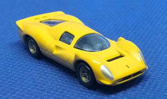 Модель Ferrari micro cars 330 P4 в масштабе 1:100 (желтый)