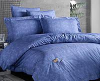 Комплект постельного белья FIRST CHOICE Deluxe Ranforce евро 01 Jeans Mavi
