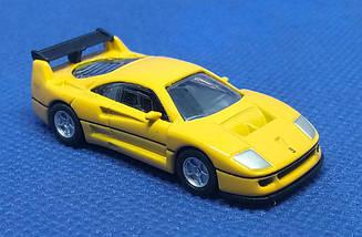 Модель Ferrari micro cars F40 Competizione в масштабе 1:100 (желтый)
