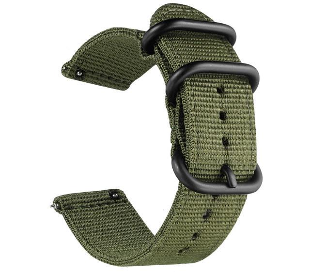 Нейлоновый ремешок Primo Traveller для часов Samsung Galaxy Watch Active / Active 2 - Army Green