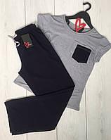 Домашняя женская одежда, пижамный комплект футболка+штаны.