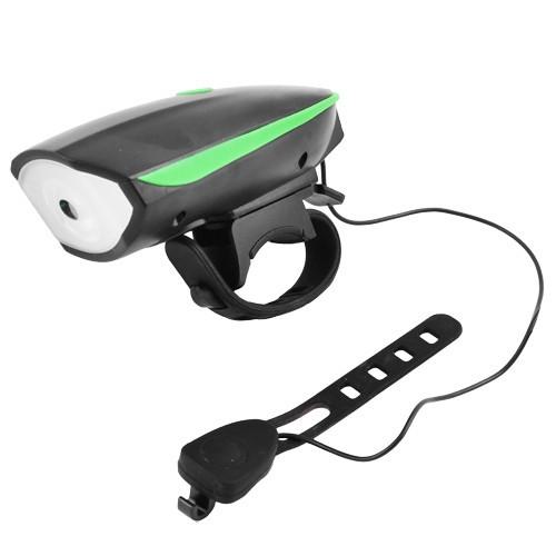 Велосипедный звонок + велофара 7588, выносная кнопка, ЗУ micro USB