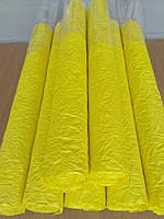 Упаковочная бумага,жатая 4,5 м.в рулоне.Желтая