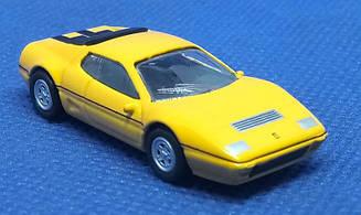 Модель Ferrari micro cars 512 BBI в масштабе 1:100 (желтый)