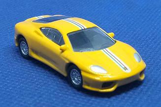 Модель Ferrari micro cars Challenge Stradale в масштабе 1:100 (желтый)