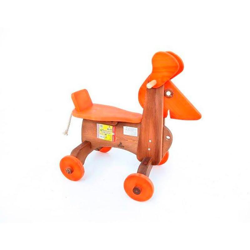 Деревянная каталка «Собачка» (цветная) ДУ018