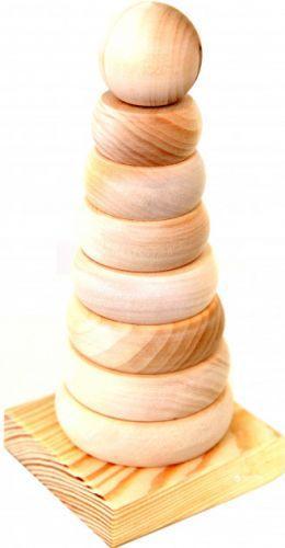 Пирамида деревянная «Круг» Д006бу