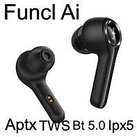 Беспроводные наушники Funcl Ai TWS, Bt 5.0, кодек Aptx , влагозащита Ipx5, bluetooth гарнитура