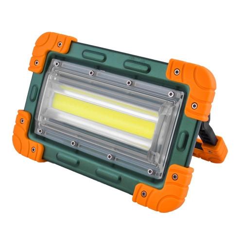 Прожектор светодиодный W824-30W-COB, 4x18650, ЗУ micro USB