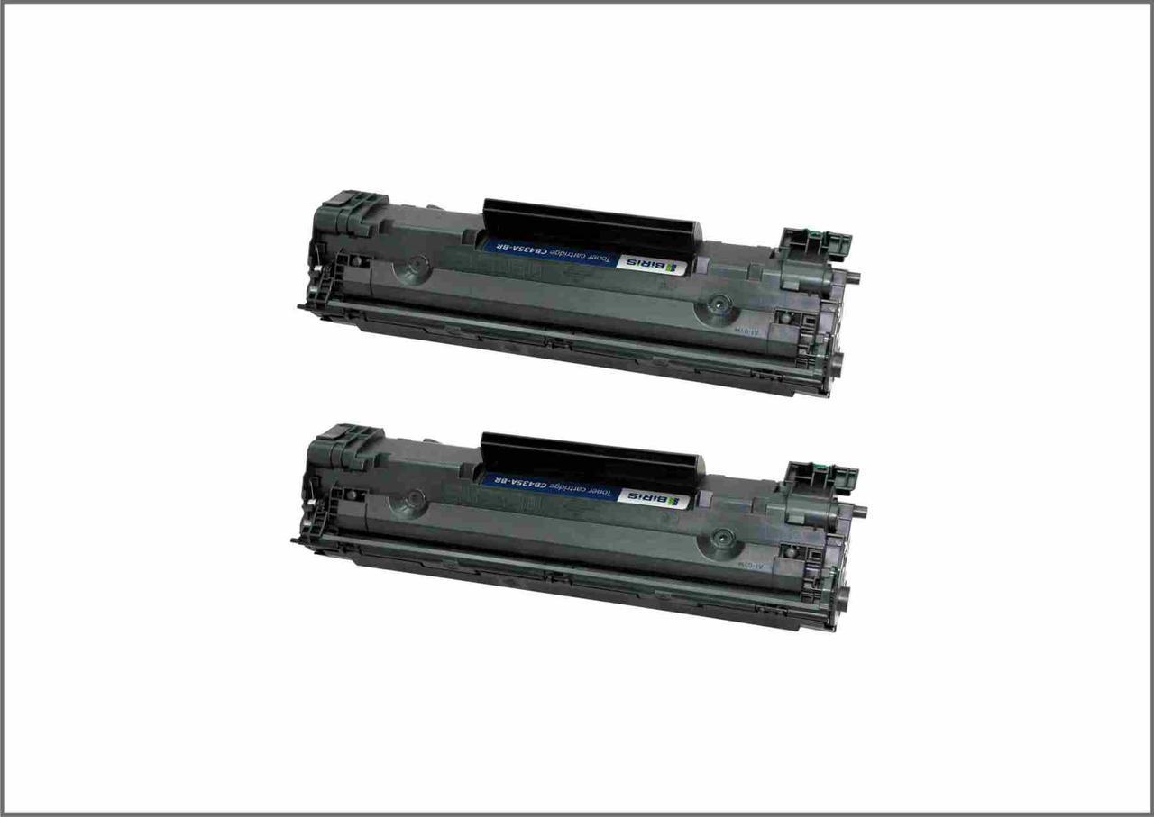 Картриджи  HP CB435A оригинальные 2 шт в упаковке Biris