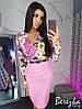 Женский костюм: блуза с разным принтом и юбка в расцветках. СФ-23-0319, фото 10
