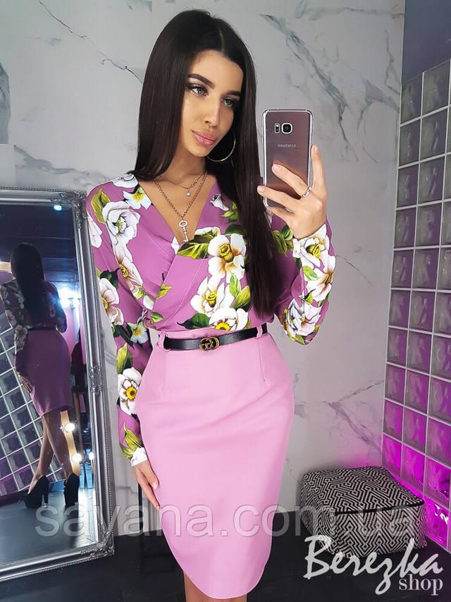 женская юбка с блузой
