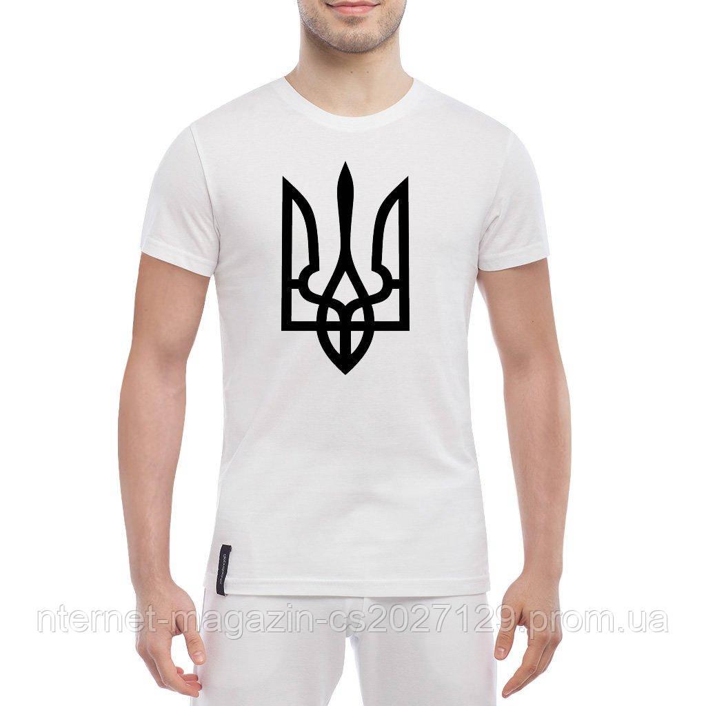 Мужская футболка патриотическая - футболка с тризубом
