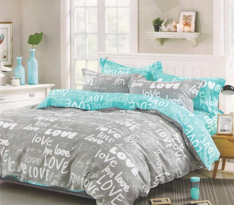 Двуспальный комплект постельного белья евро 200*220 хлопок  (11322) TM KRISPOL Украина
