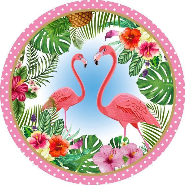 """Тарелки бумажные одноразовые """"Фламинго"""", 10 шт/уп."""