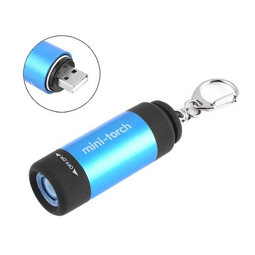Фонарь Брелок HJ-120-Ultra-glow, встр. аккум., ЗУ USB