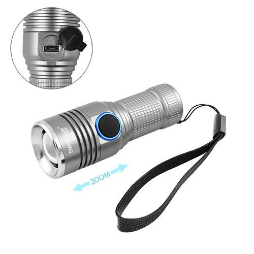 Фонарь Small Sun R840-XPE, 1х16340, ЗУ micro USB, zoom, ремешок на руку, комплект