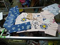 Костюм детский с джеггинсами 3Д Бабочки р.128- 140
