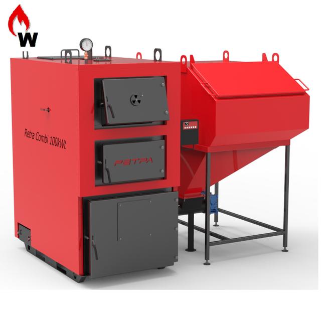 Котлы с автоматической подачей топлива Ретра-4М COMBI (с ретортной горелкой)