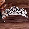 Весільна діадема і сережки, тіара, ЛЕЙЛА, Весільна діадема, весільна біжутерія, фото 6