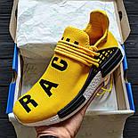 Мужские кроссовки Adidas NMD Pharrell Williams x  'Human Race' Yellow. B Живое фото (Реплика ААА+), фото 4